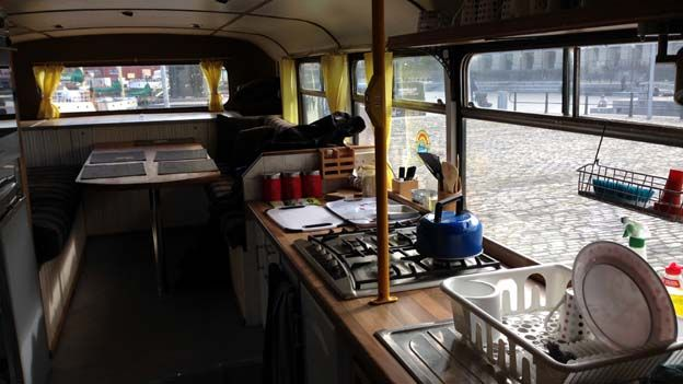 Kitchen on the bus