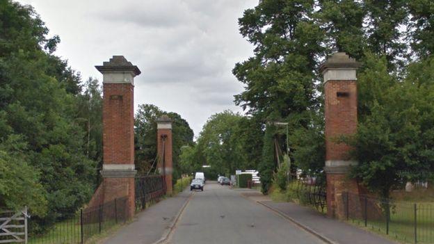 Former gates of Hurst Park racecourse