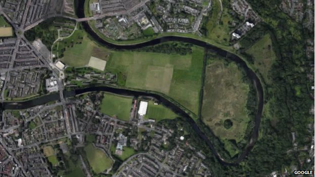 The site of Castle Irwell racecourse in Salford