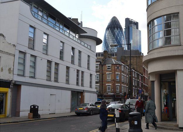 View of the Gherkin