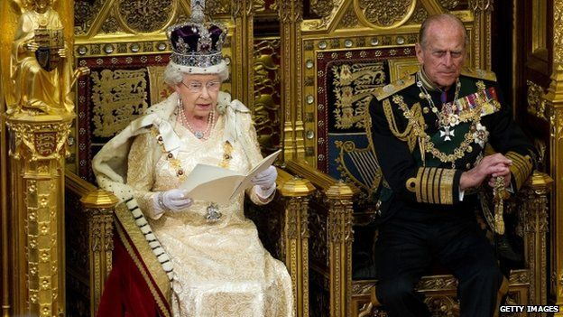 The Queen and Prince Philip during the 2010 State Opening of Parliament