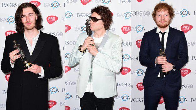 Hozier, Nicky Wire and Ed Sheeran