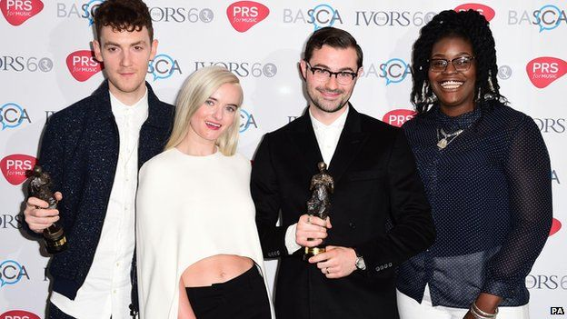Clean Bandit, with songwriters James Napier and Nikki Marshall