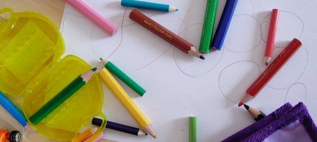 Crayons and drawing paper
