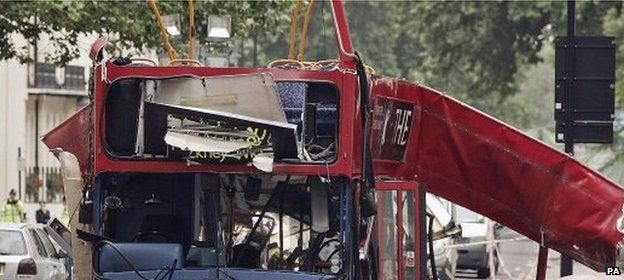 London bus bomb