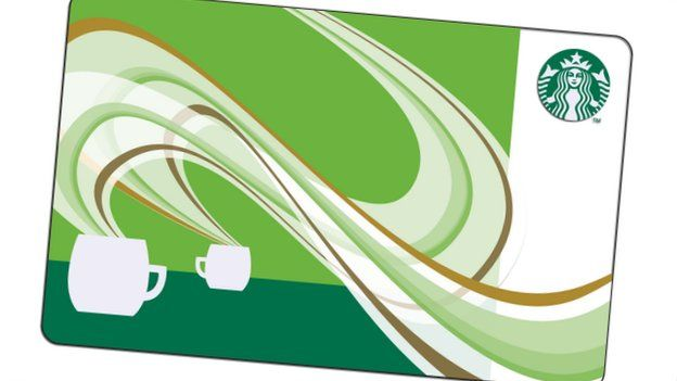 Starbucks says gift card hack was fraudulent activity bbc news a starbucks gift card negle Images