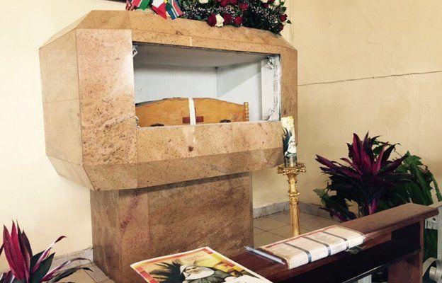 Sister Irene Stefani's remains at the Mathari Memorial Chapel