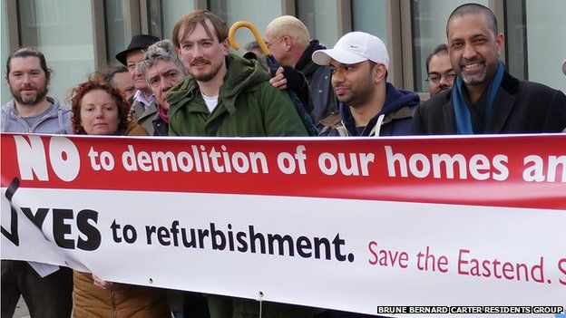Residents campaign to save their homes from demolition