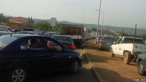 Queue at a fuel station in Nigeria