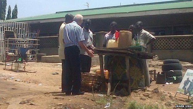Fuel station in Abuja, Nigeria