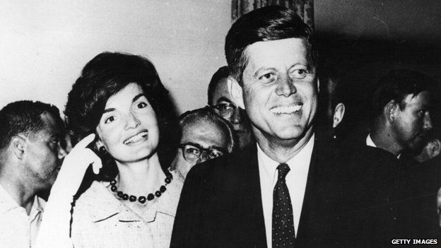 JFK and wife Jackie