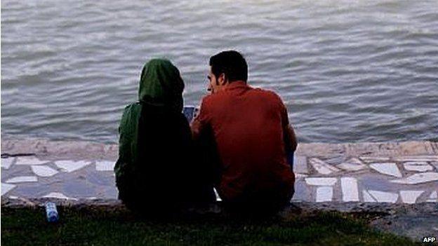 Couple in Tehran (file photo)