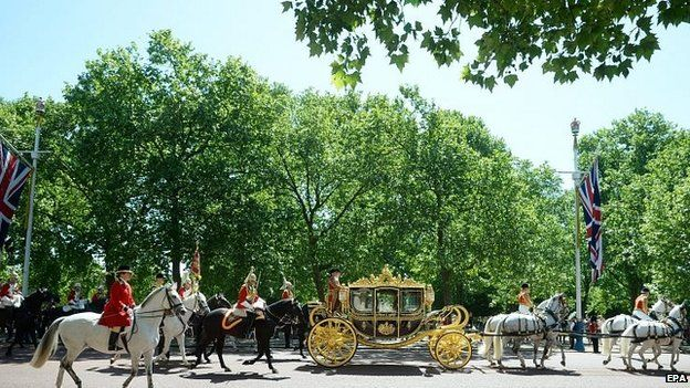 The Queen heads back to Buckingham Palace