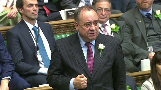 Alex Salmond speaking in the House of Commons