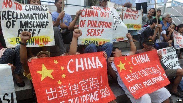 Anti-China protest in Manila, 2015
