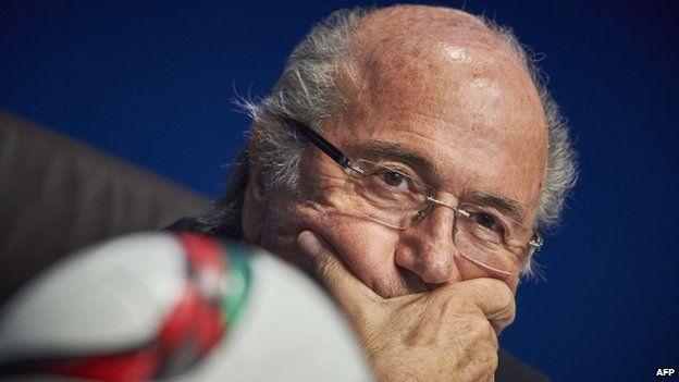 Fifa president Sepp Blatter on 20 March 2015