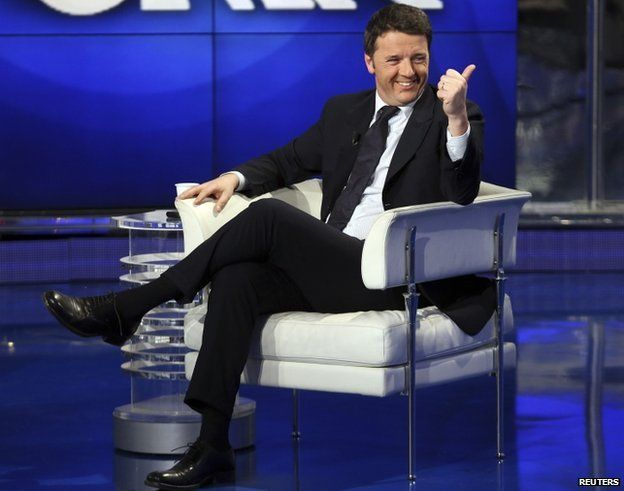 Matteo Renzi on Rai TV in January 2014
