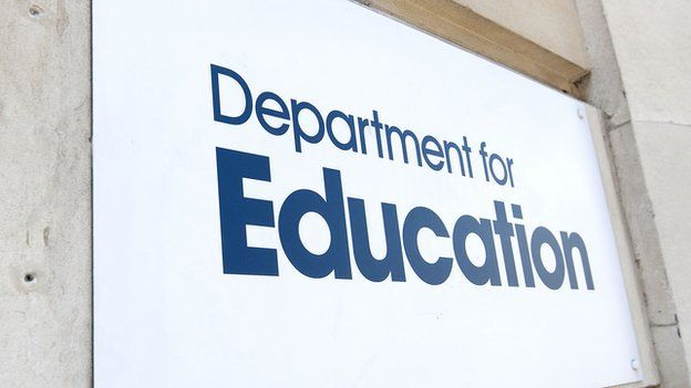 Sign outside the Department for Education