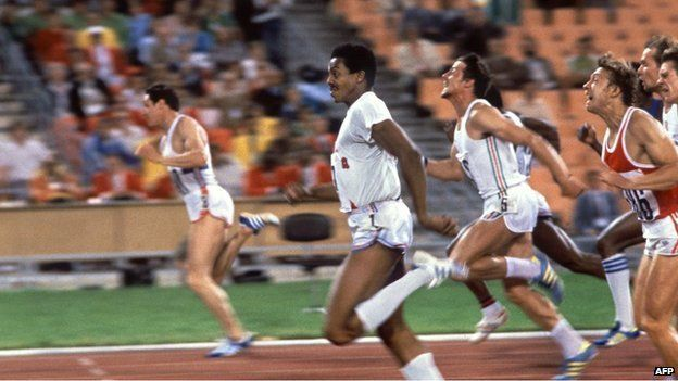 Allan Wells beat Cuba's Silvio Leonard to first place in the 100m in 1980