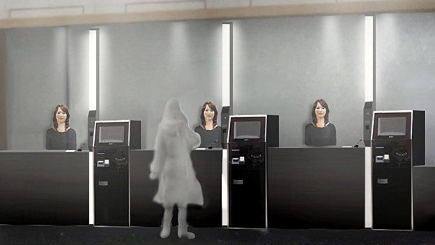 Robot check in staff