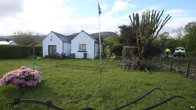 The Caberfeidh cottage in Fort William where Mr Kennedy died