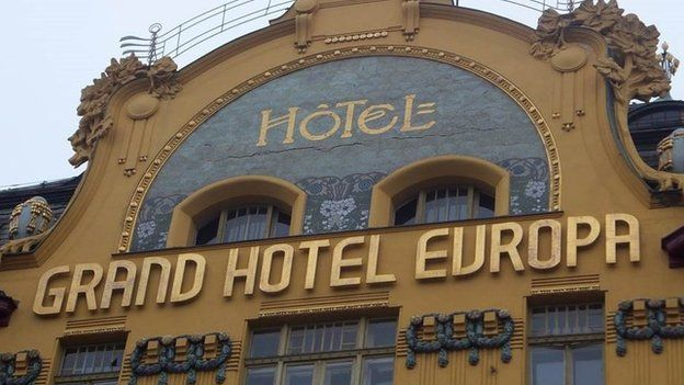The hotel in Prague where Sir Nicholas Winton set up his office