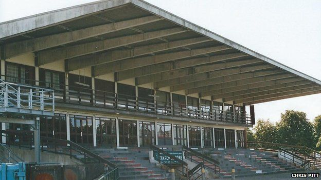 Former stand at Manchester Racecourse