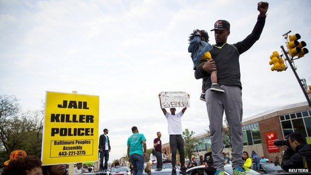 Protestors in Baltimore