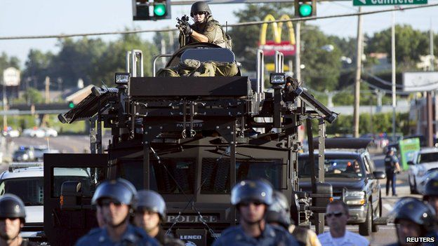 Military equipment used by police in Ferguson
