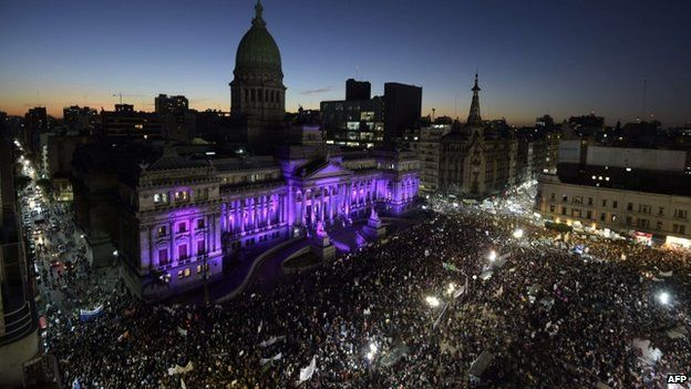 Buenos Aires protest outside congress. 3 June 2015