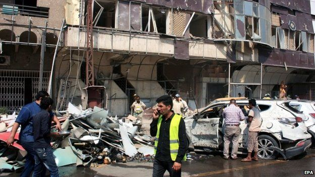 The scene of a car bomb attack in Baghdad. Photo: 9 May 2015