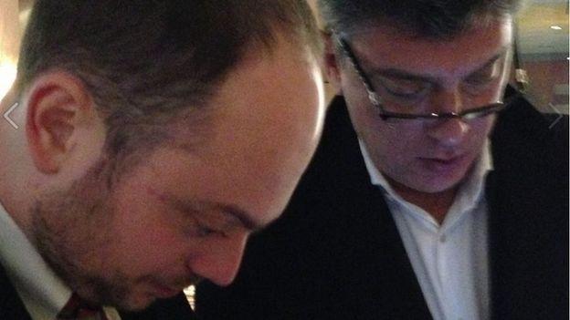 Vladimir Kara-Murza (left) and Boris Nemtsov