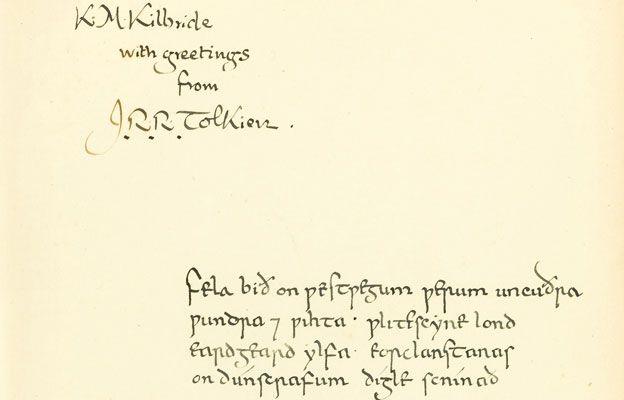 JRR Tolkien inscription