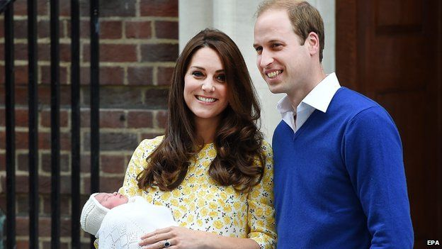 Duke and Duchess of Cambridge with Princess Charlotte