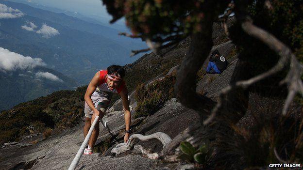 A participant in the Mount Kinabalu Climbathon (October 2013)