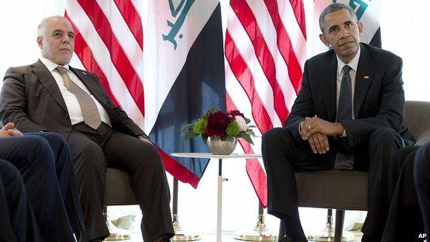 President Obama met Mr Abadi at a summit of G7 nations at Schloss Elmau. 8 June 2015