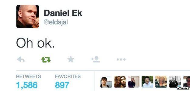 Daniel Ek tweet