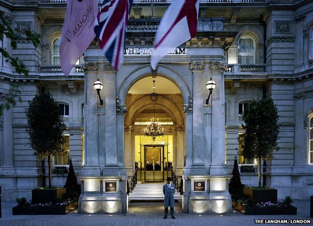 The Langham, London, entrance