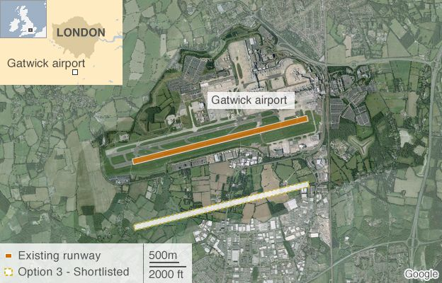 Gatwick Airport proposed new runway