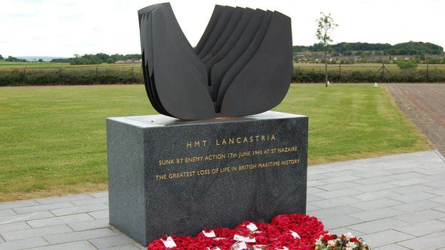 Lancastria memorial in Clydebank