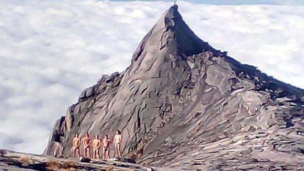 The group on Mount Kinabalu