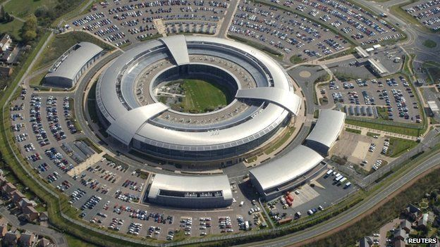Aerial view showing Government Communications Headquarters (GCHQ) in Cheltenham