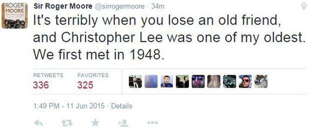 Roger Moore tweet
