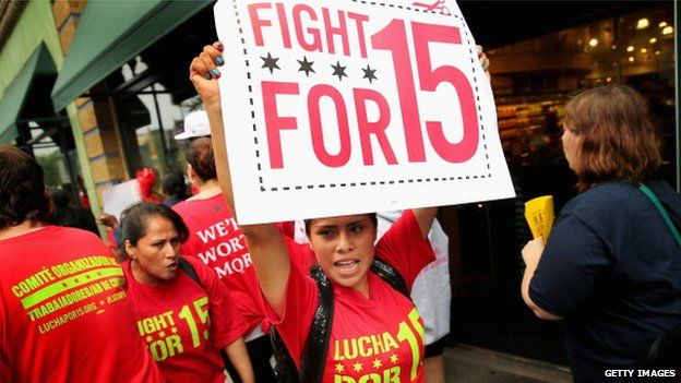 """""""Fight for 15"""" protestors"""