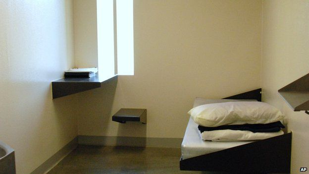 A US jail cell