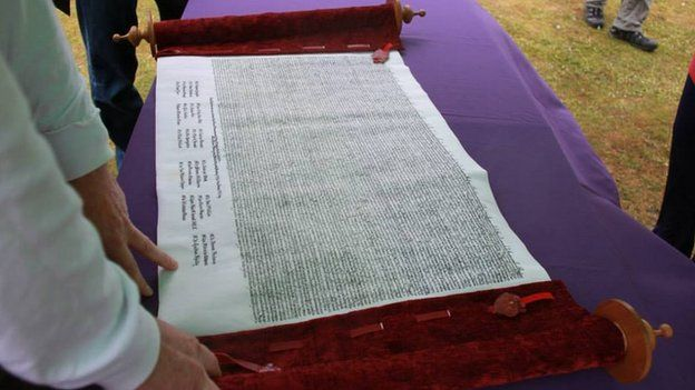 A replica of Magna Carta