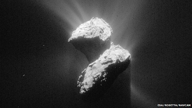 This handout photo from Esa shows an image of Comet 67P on 5 June 2015