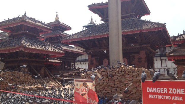 Security barriers around monuments in Kathmandu's Durbar Square