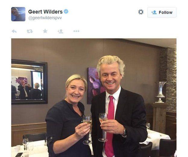 Twitter grab from Geert Wilders' feed