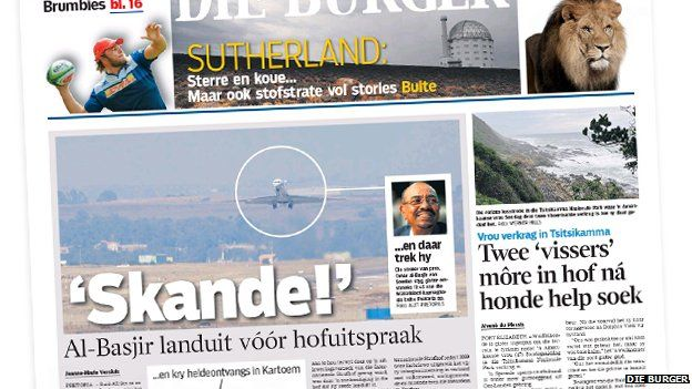 South African paper Die Burger